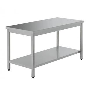 Tavolo da lavoro inox dimensioni cm 140x70x85h