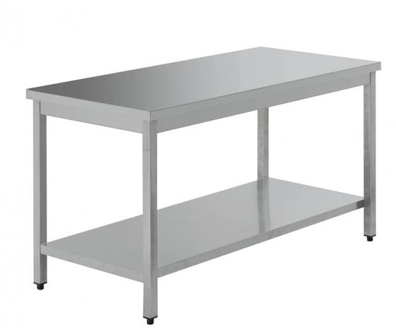 Tavolo da lavoro inox dimensioni cm 160x70x85h