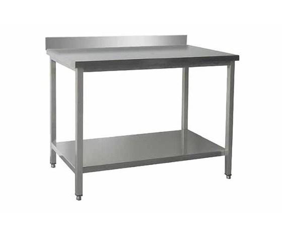 Tavolo da lavoro inox cm 100x70x85h con alzatina