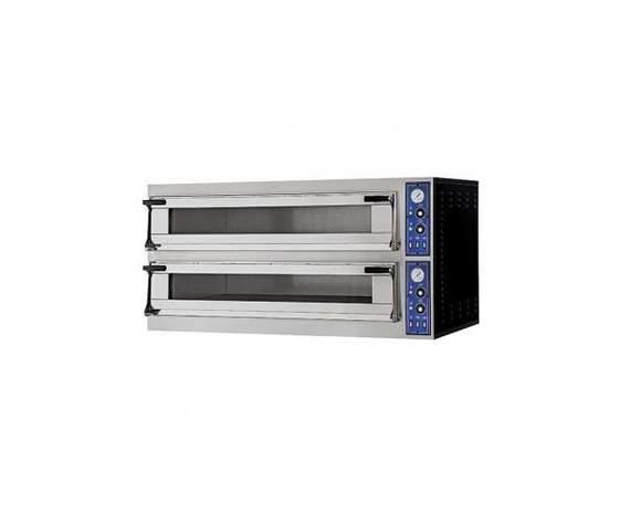 Forno pizza elettrico 2 camere 4+4 teglie 60x40-5779P
