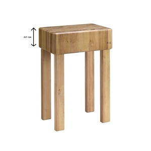 Ceppo in legno cm 35x35 con gambe fisse spessore 20 cm varie misure-CGF20