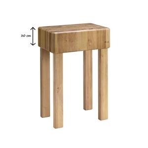 Ceppo in legno cm 35x35x90h con gambe fisse spessore 30 cm-CGF30