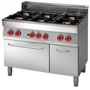 Cucina a gas 6 fuochi Forno elettrico a convenzione+armadio neutro prof. 70 cm-ATRC-70/110 CFGE