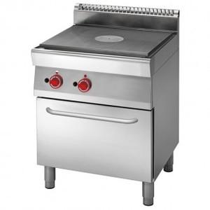 Cucina elettrica tuttapiastra 4 zone su forno elettrico a convezione prof.70 cm-ATRC-70/80 TPFE