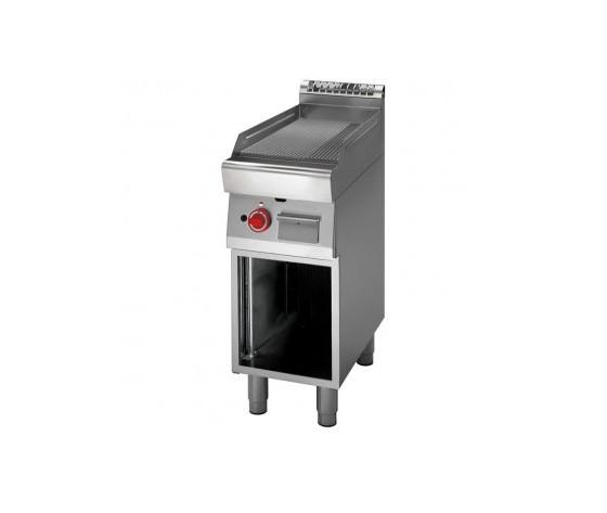 Fry Top elettrico piastra rigata+vano aperto prof. 70 cm-ATRC-70/40 FTRE