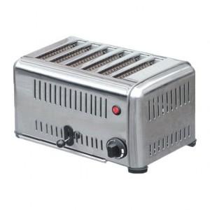 Toaster con timer da 6 fette