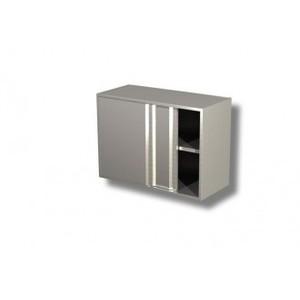 Pensile in acciaio inox 1 ripiano H 65 porte scorrevoli varie larghezze