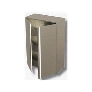Pensile in acciaio inox h 100 2 ripiani porte battenti varie larghezze