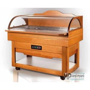 Buffet refrigerato in legno cm 140 temperatura +3°+10°C-BUFFET