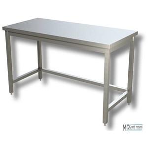 Tavolo inox su gambe con telaio cm 80x70x85h