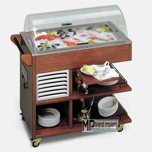 Buffet refrigerato pesce-CARRETTINO FISH
