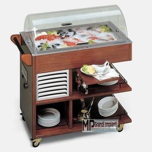 Buffet espositore refrigerato pesce