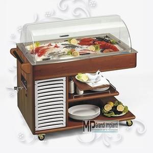 Buffet espositore refrigerato pesce e carni fresche