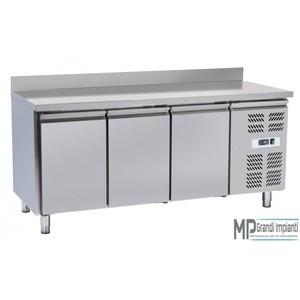 Tavolo refrigerato inox 3 porte con alzatina 180x70x96