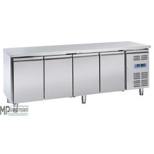 Tavolo refrigerato Inox 4 porte Temp. -18° -22° C