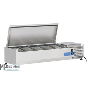 Vetrina refrigerata per vaschette GN1/4 coperchio inox Varie Dimensioni