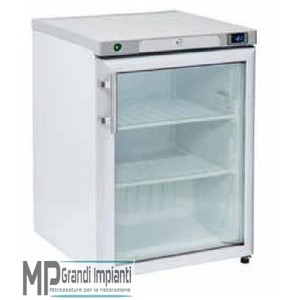 Armadio Freezer 145 l. bianco Porta in vetro/Interno in ABS