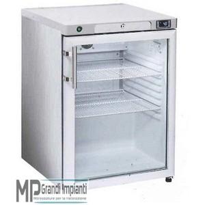 Armadio Freezer Inox 200 l. Porta in vetro/Interno in ABS