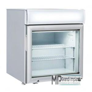 Freezer verticale 57x55x66 con canopy pubblicitario