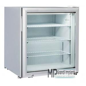 Freezer verticale porta in vetro 61x54x69