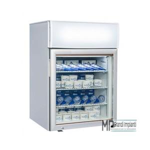 Freezer verticale 61x56x90 con canopy pubblicitario