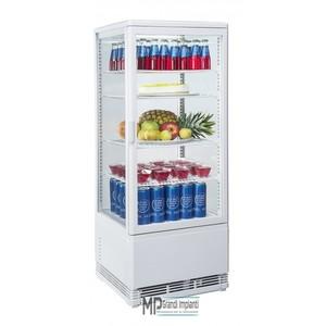 Espositore refrigerato verticale 4 ripiani bianco 43x39x111 cm-RC98