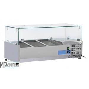 Vetrina refrigerata per vaschette GN1/3 Top in vetro Varie Dimensioni