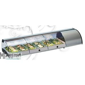 Vetrina sushi self service da banco 6 vaschette