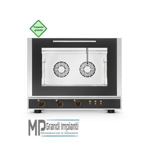 Forno elettrico ventilato a convezione con vapore 4 teglie 600x400 mm