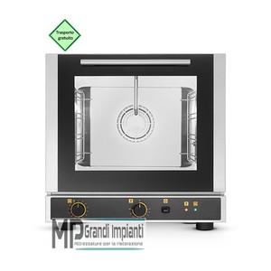 Forno elettrico ventilato a convezione con vapore 4 teglie 429x345