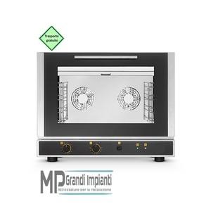 Forno elettrico ventilato a convezione con umidificazione 4 teglie GN 1/1