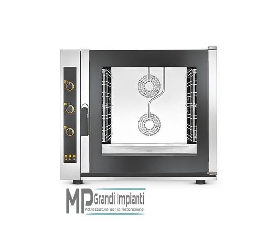 Forno elettrico ventilato a convezione con vapore 7 teglie GN 1/1