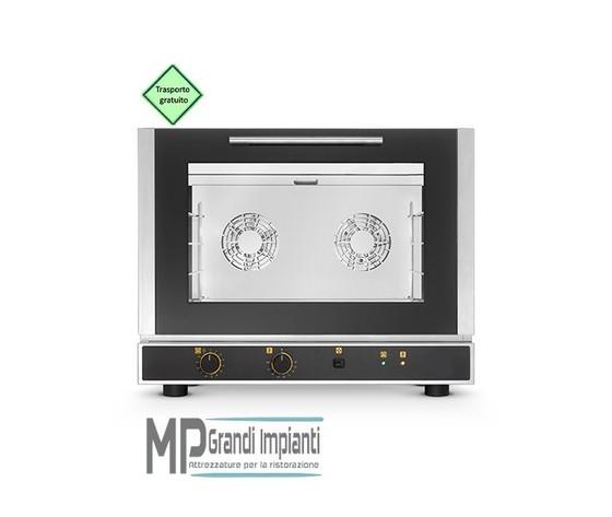 Forno elettrico ventilato a convezione con umidificazione 4 teglie 600x400 mm-EKF 464