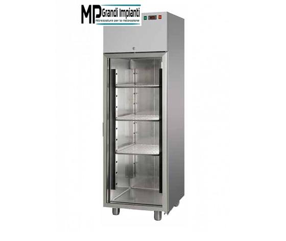 Vetrina Refrigerata in acciaio inox Porta in vetro temp 0°+10°C