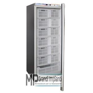 Armadio refrigerato per cassette cap.600 l. Temp -18º -22ºC mod. EF600SS CAS