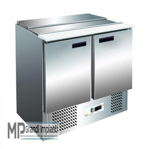 Saladette refrigerata 2 porte+porta vaschette