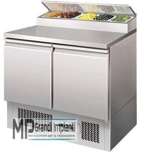 Saladette refrigerata 2 porte+porta vaschette (5xGN1/6)