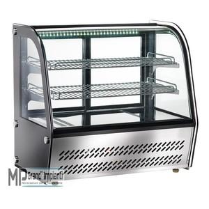 Espositore da banco refrigerato con vetro curvo Temp. +2°C +8°C-VPR100