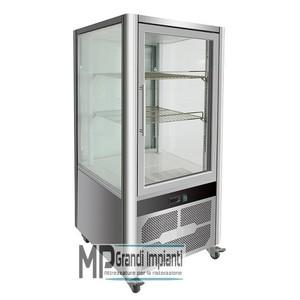 Vetrina espositiva 4 lati refrigerazione ventilata Temp. +2 +8 °C