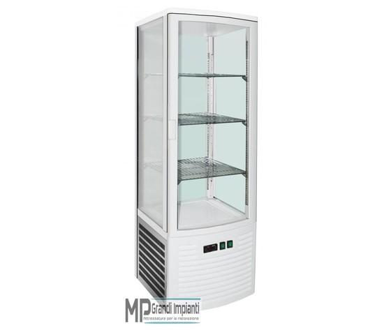 Vetrina refrigerata 4 lati in vetro refrigerazione ventilata Temp. +2° +8° C