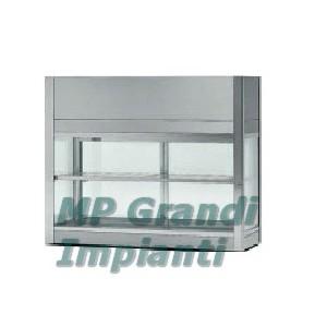 Vetrina refrigerata panini da banco in acciaio inox +2° C +8° C