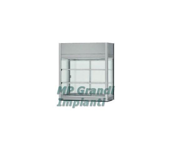 Vetrinetta refrigerata ventilata acciaio inox +2°+8° C