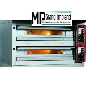 Forno pizza elettrico monoblocco 2 camere cm 105x105x16h Zanolli