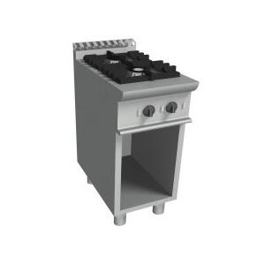 Cucina a gas 2 fuochi+mobile con vano a giorno cm 40x70x85h-E7/KUPG2BA.2M