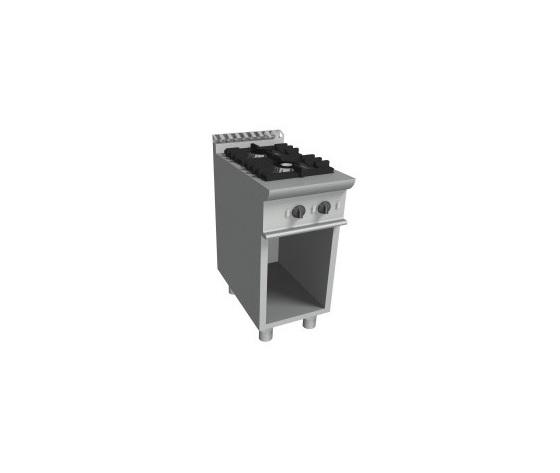 Cucina a gas 2 fuochi+mobile e vano a giorno cm 35x70x85h-E7/CUPG2BA.2M