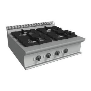 Cucina a gas 4 fuochi da banco cm 70x70x27h-E7/CUPG4BB.4M