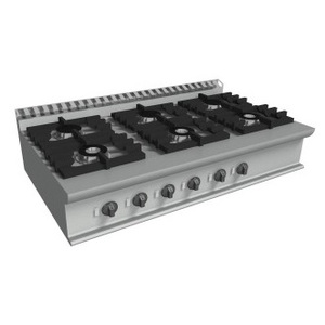 Cucina a gas 6 fuochi da banco cm 120x70x27h-E7/KUPG6BB.6M
