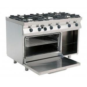 Cucina a gas 6 fuochi+Forno a Gas cm 120x70x85h-F7/KUG6LN