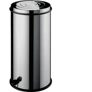 Pattumiera tonda in acciaio inox - capacità 30 litri