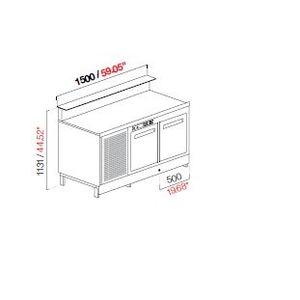 Banco bar refrigerato 150 cm semilavorato-BB15